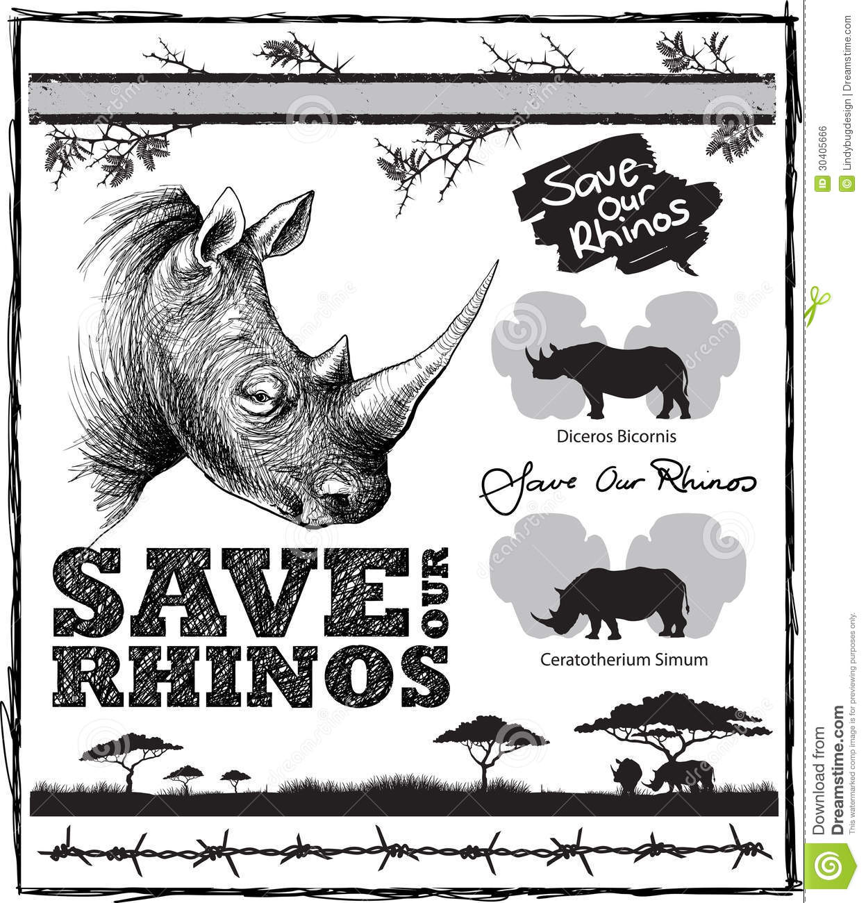 save our rhinos royalty free stock image image 30405666 barbed wire clip art designs barbed wire clip art picture
