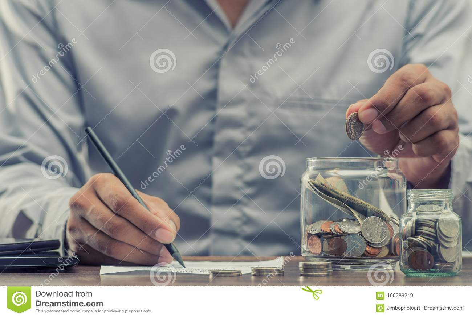 Save pieniądze dla emerytura dla finansowego biznesowego pojęcia
