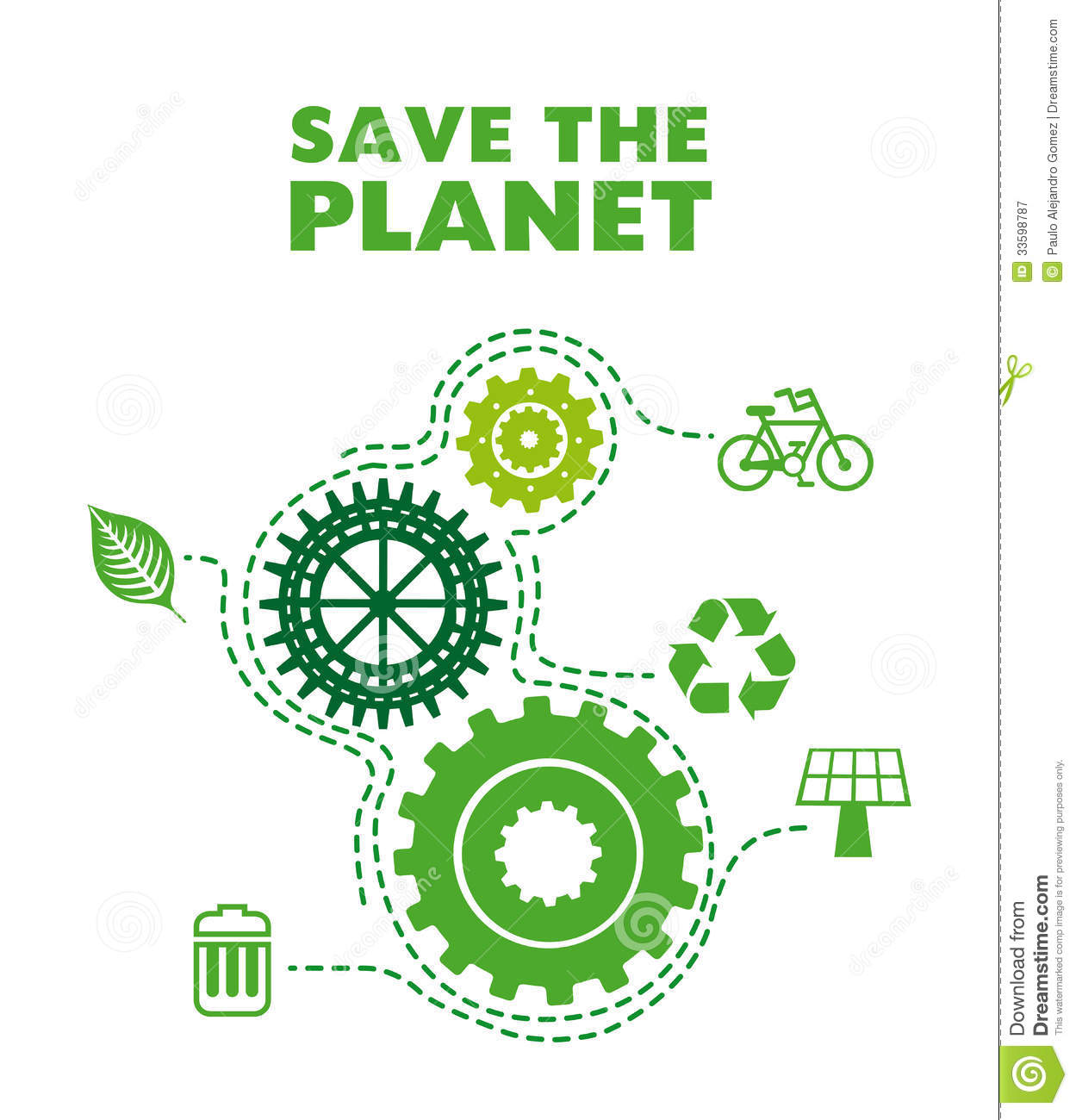 Save The Planet Royalty Free Stock Photography Image