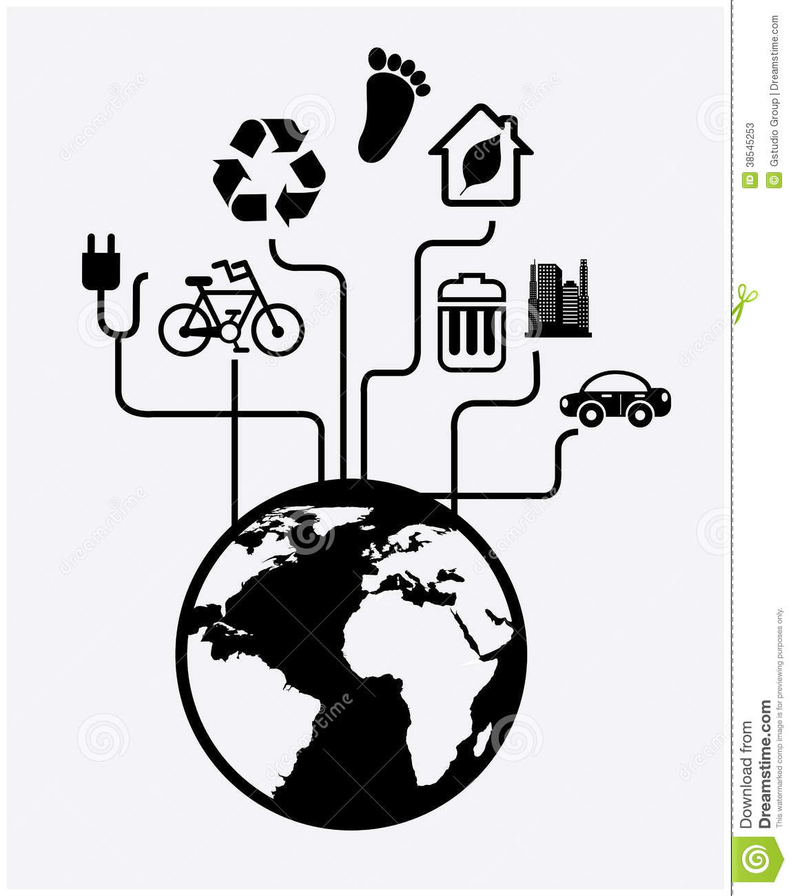 Save The Planet Design Stock Vector Illustration Of Guard 38545253