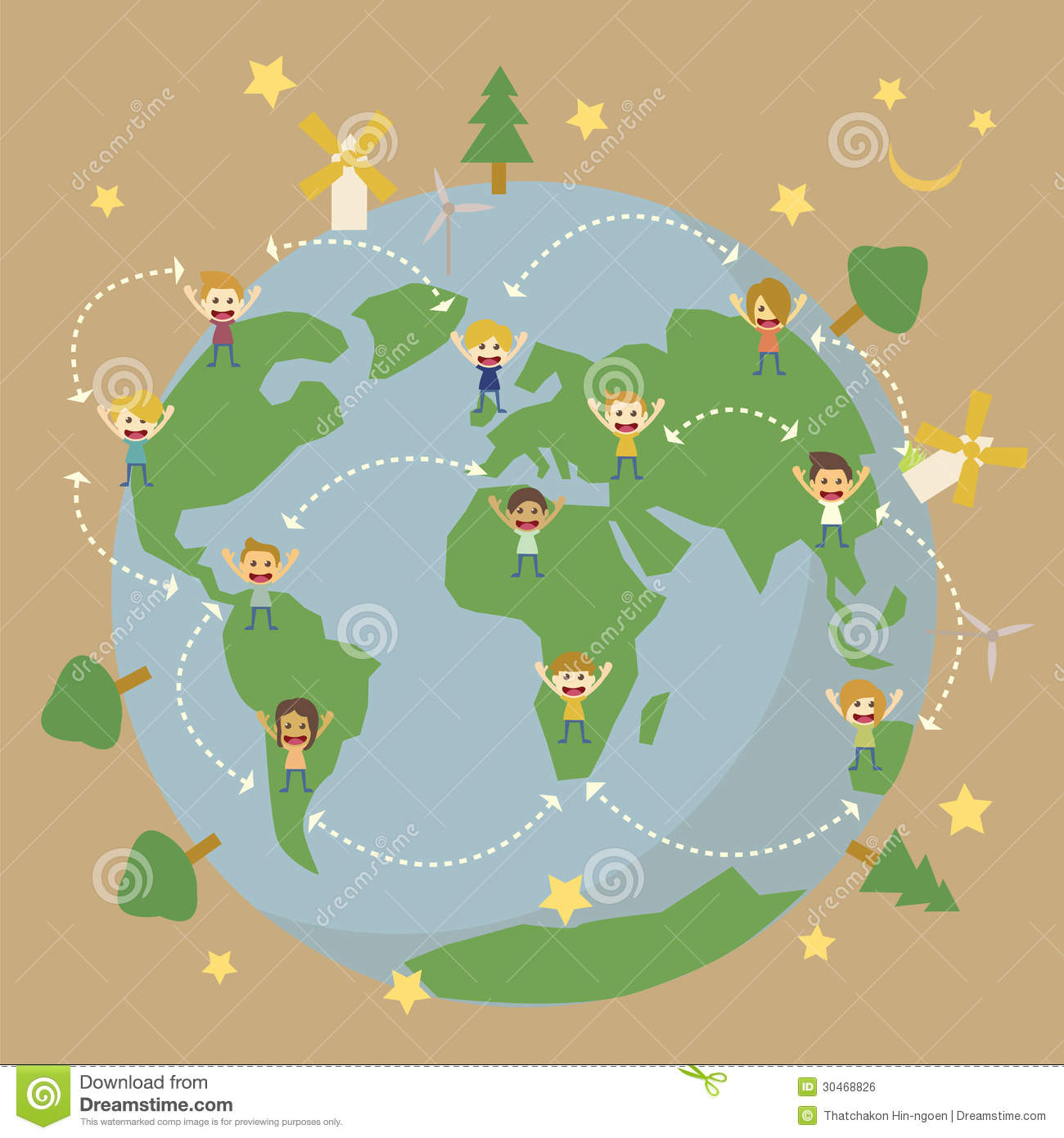 Save the planet earth stock vector. Illustration of - 30468826 Earth Map For Kids on