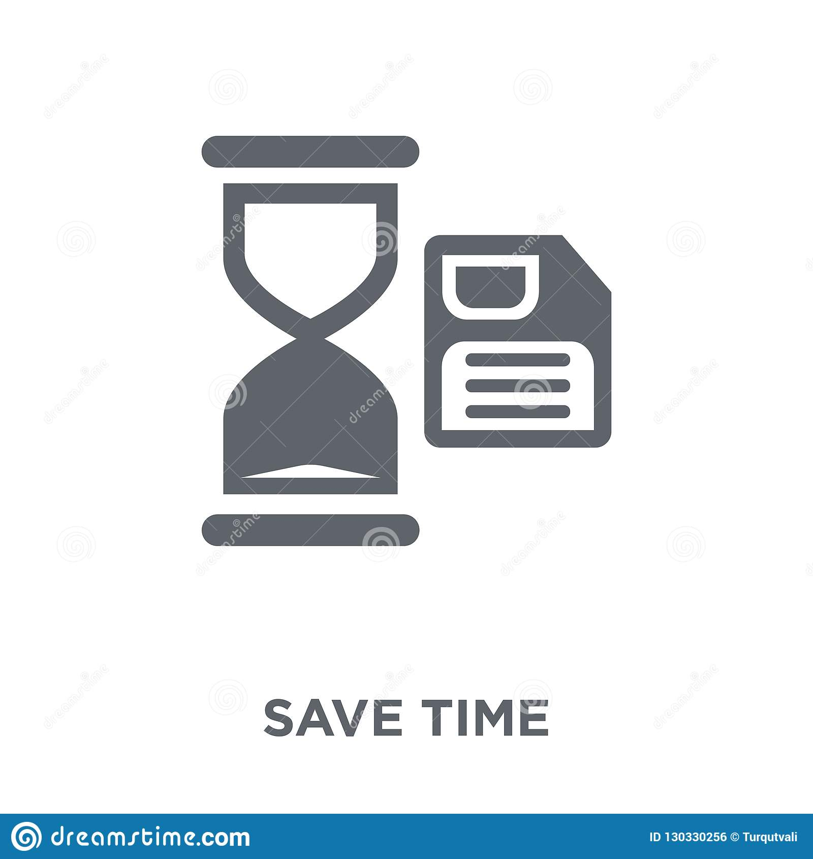 Save time icon from Time managemnet collection.