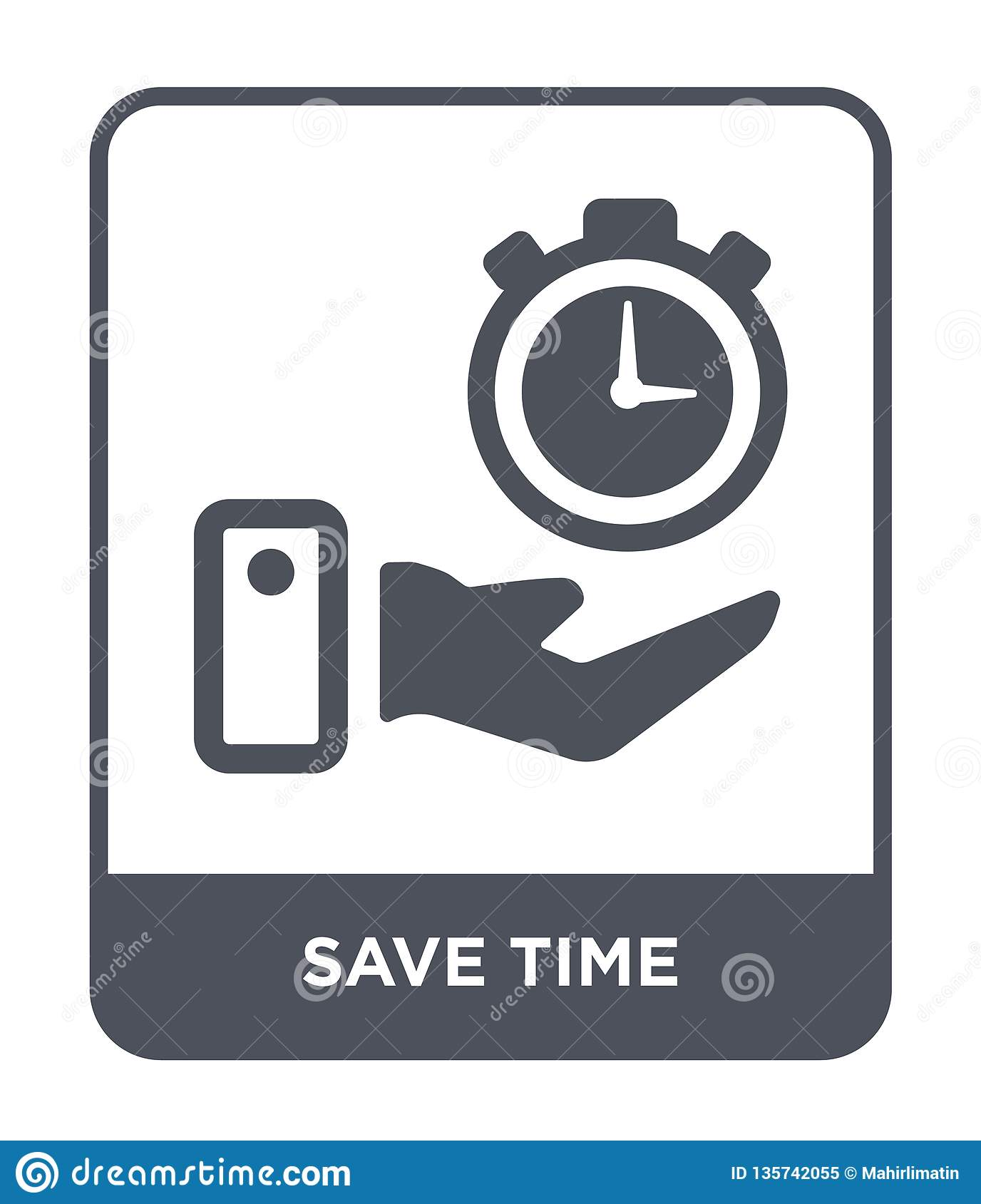 save time icon in trendy design style. save time icon isolated on white background. save time vector icon simple and modern flat