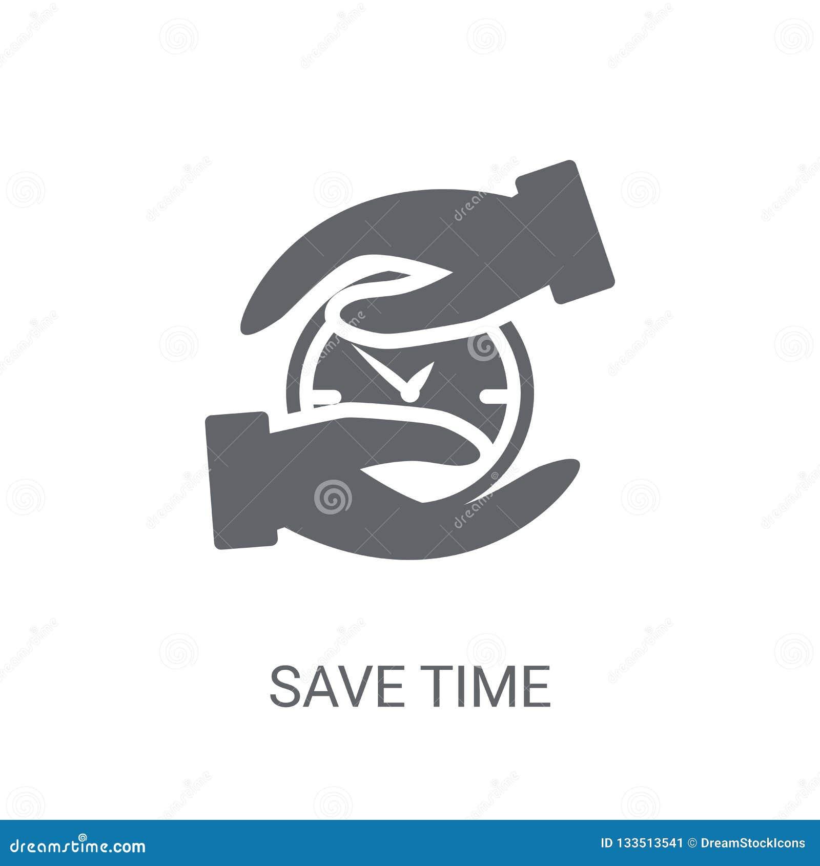 Save time icon. Trendy Save time logo concept on white backgroun