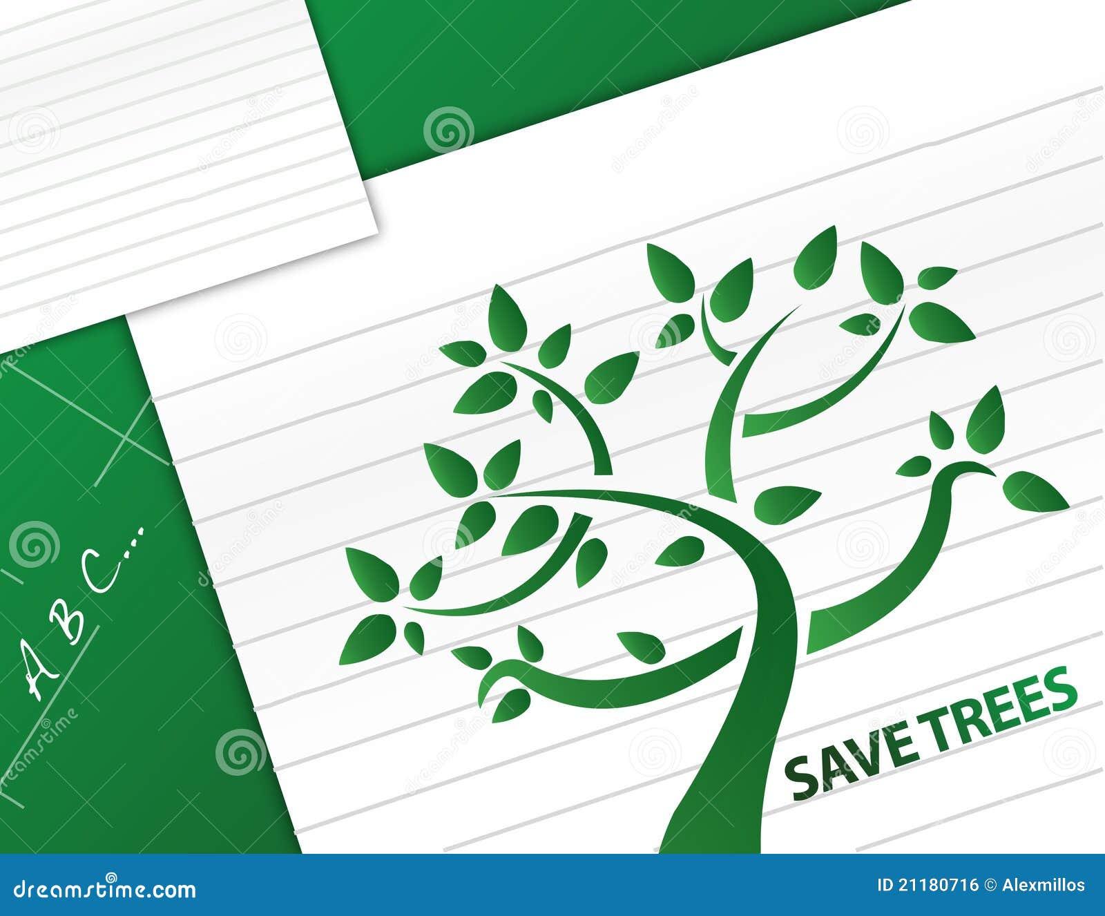 Save trees illustration design