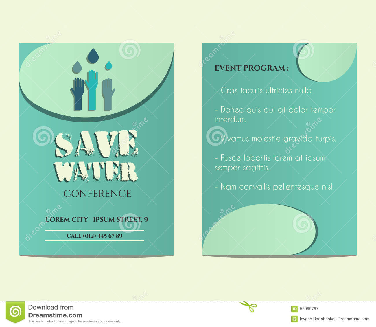 Save water conference flyer and poster invitation stock vector save water conference flyer and poster invitation stopboris Gallery