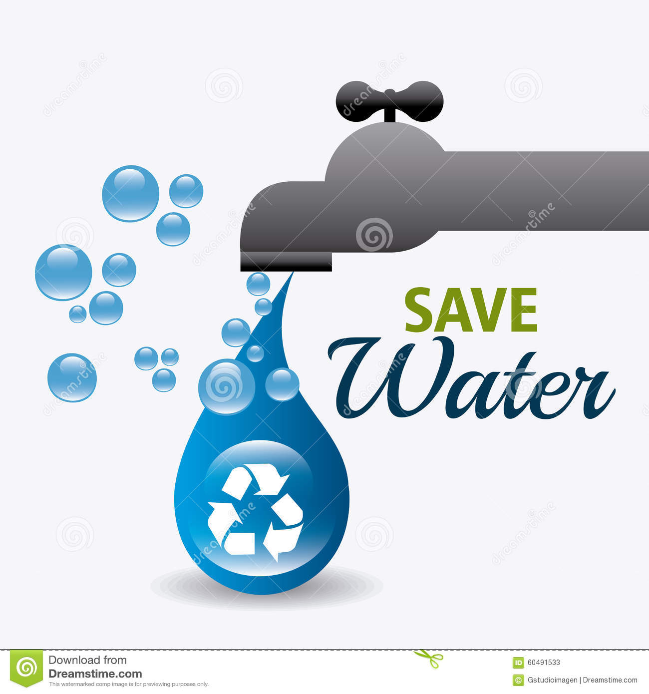 Save Water Theme Earth Faucet Stock Illustrations – 46 Save Water ...