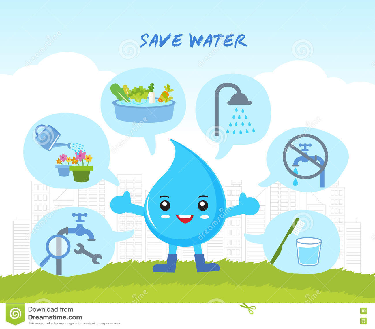 Save the water, infographic