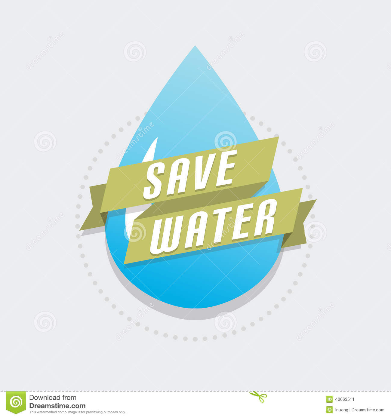 Save Water Stock Vector - Image: 40663511