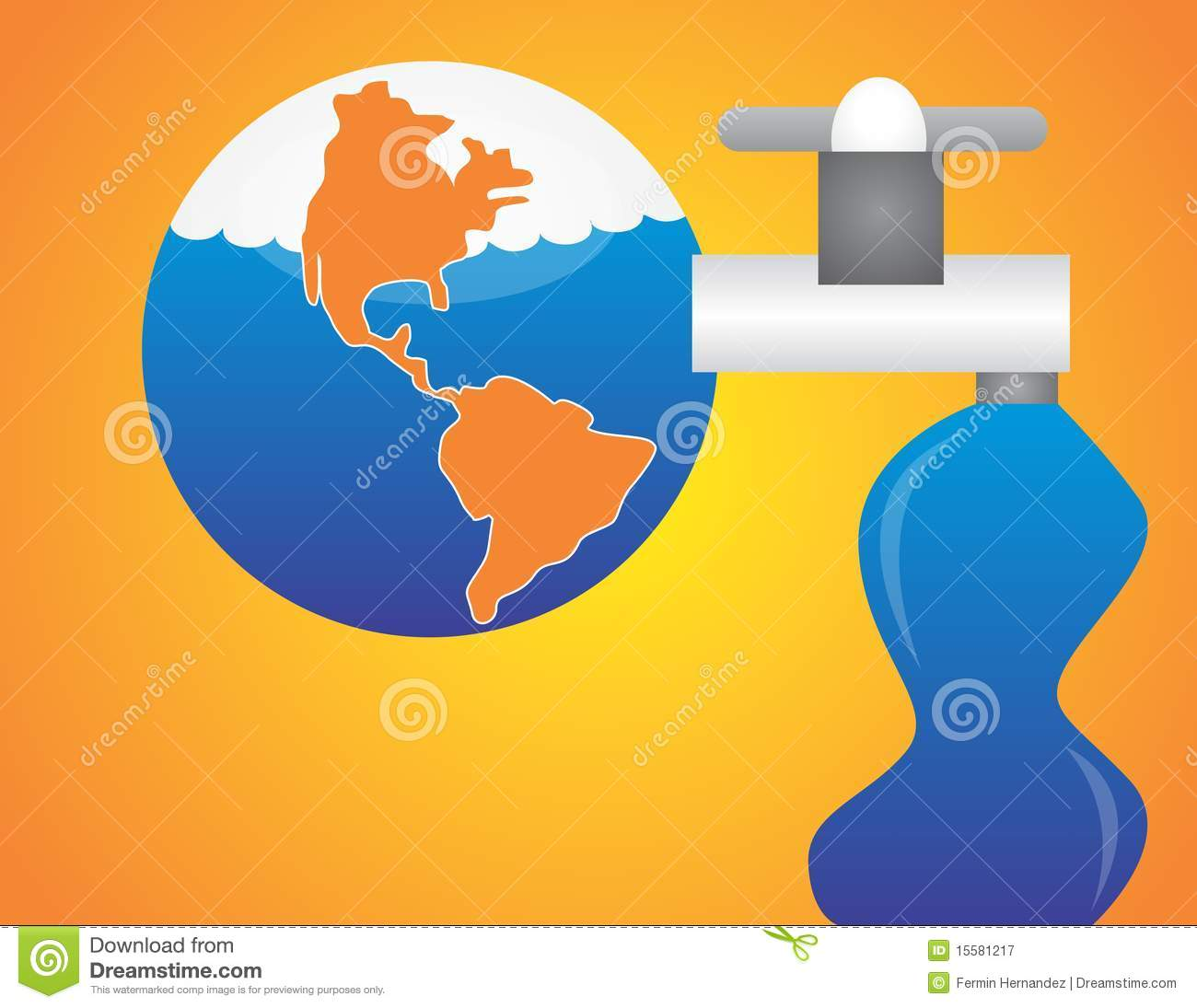 Save water save the world stock vector illustration of earth 15581217 save water save the world ccuart Choice Image
