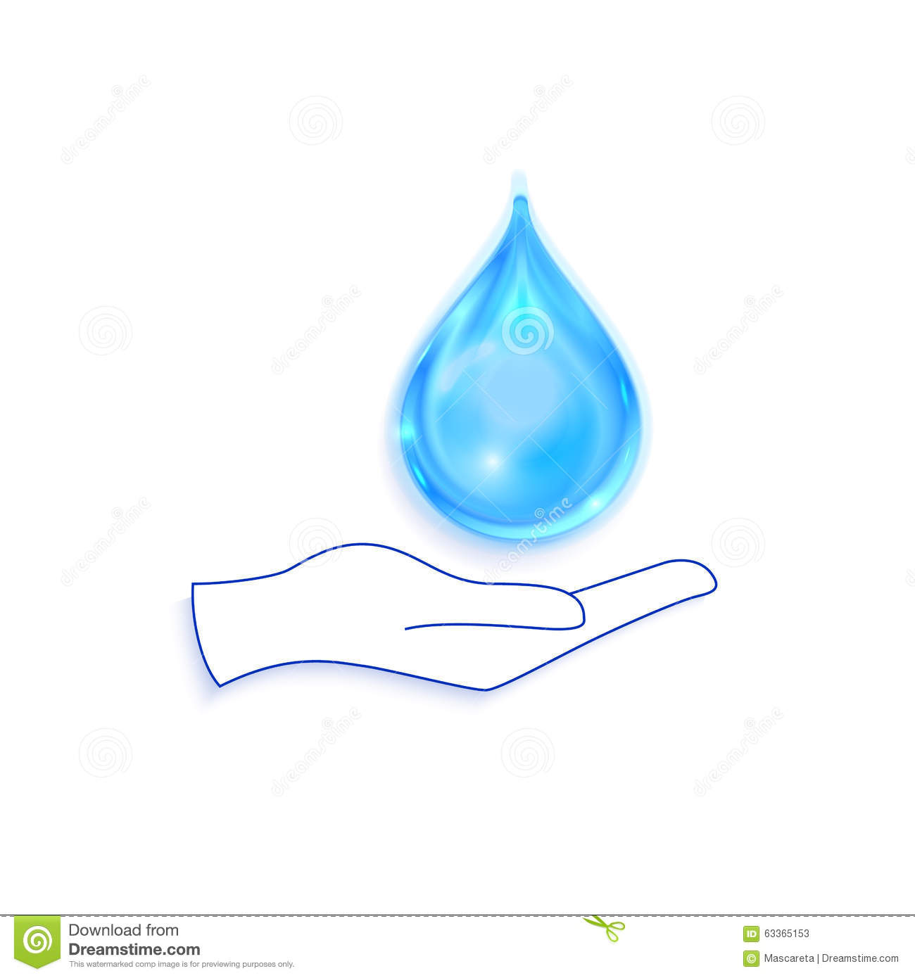Save water sign icon hand holds blue drop symbol stock vector hand holds blue drop symbol biocorpaavc