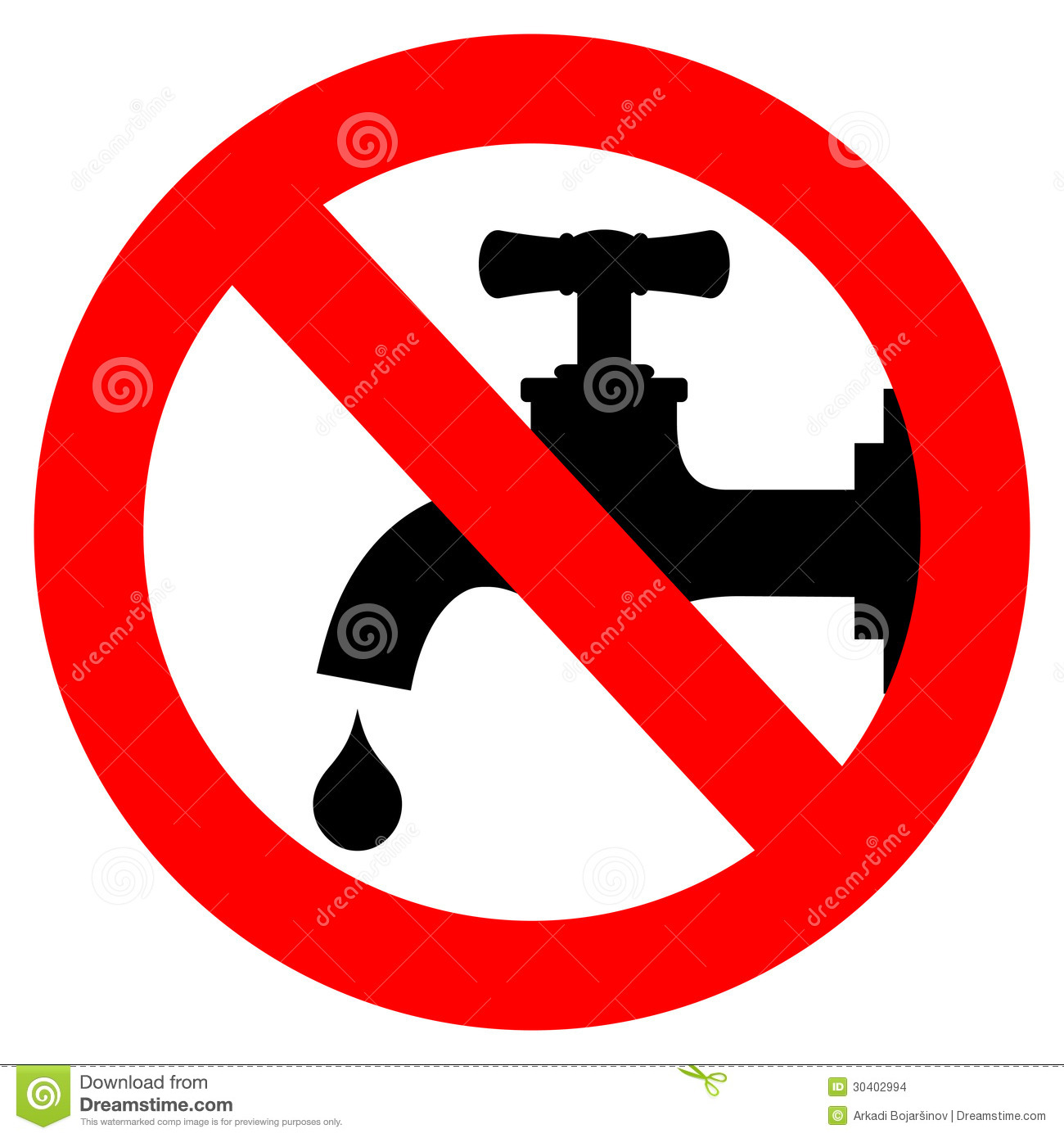 Save Water Sign Stock Vector Illustration Of Black Keep