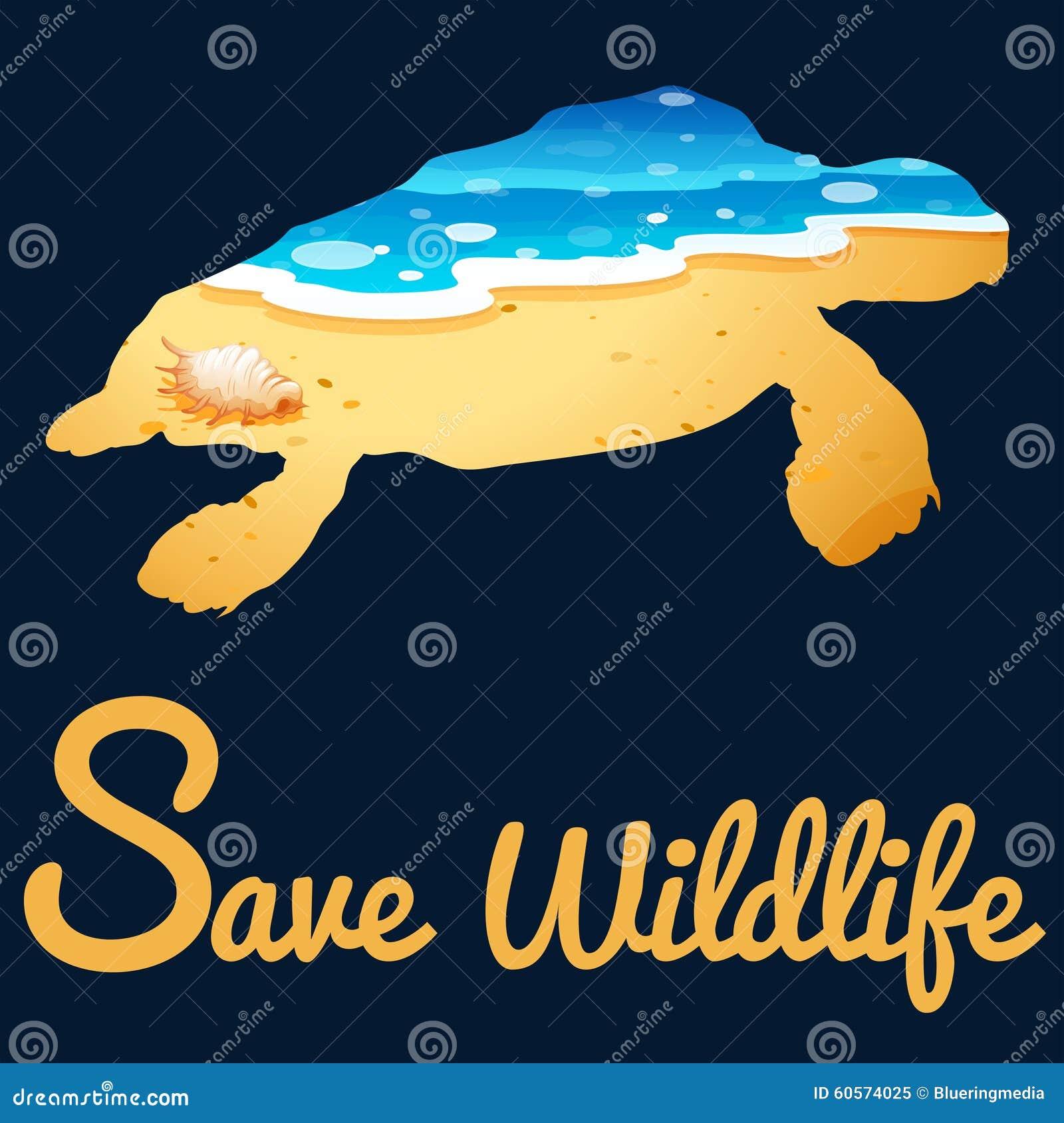 save wildlife poster with sea turtle stock illustration tortoise clipart black tortoise clipart mask