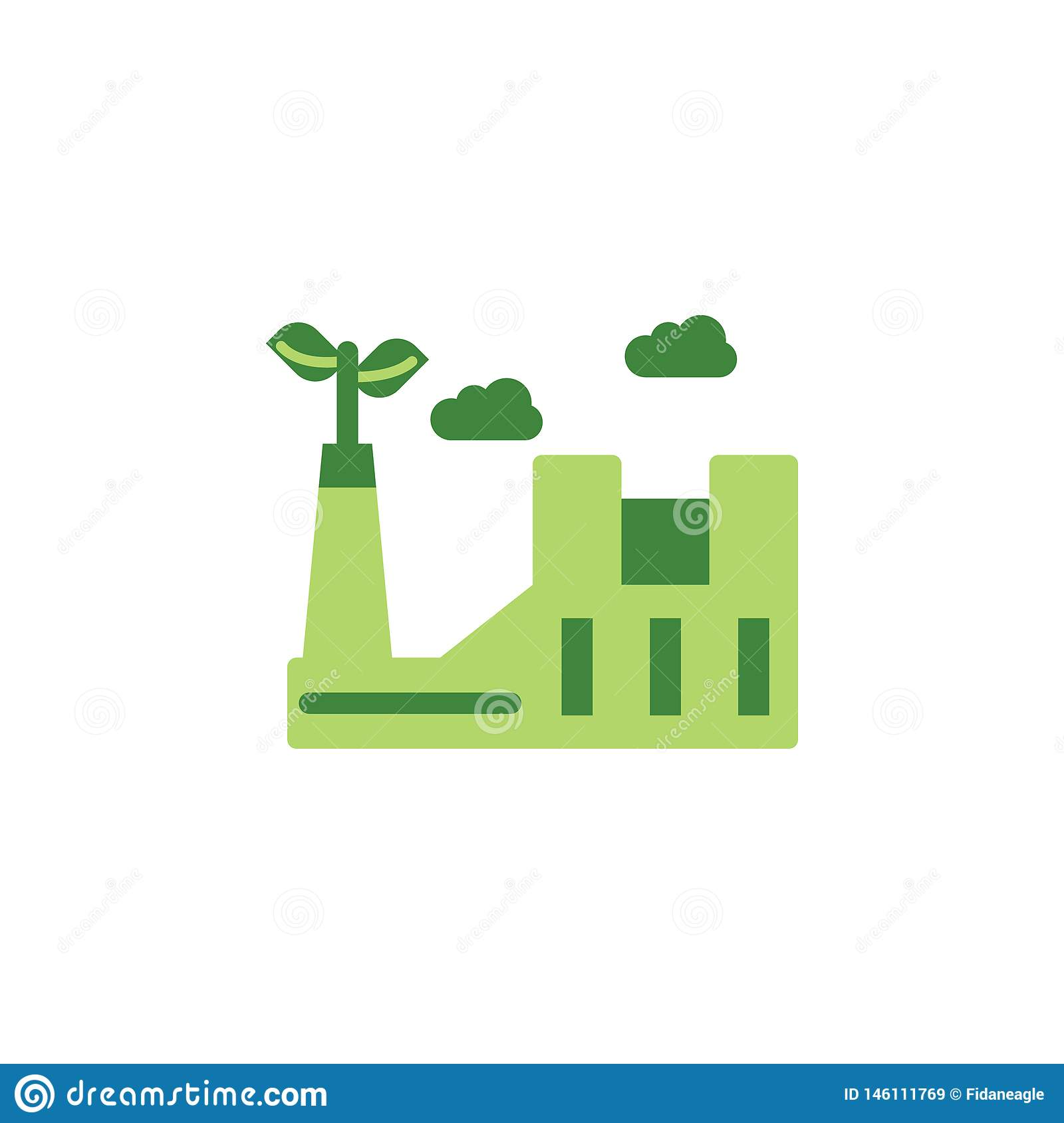 Save the world, eco factory colored icon. Elements of save the earth illustration icon. Signs and symbols can be used for web,