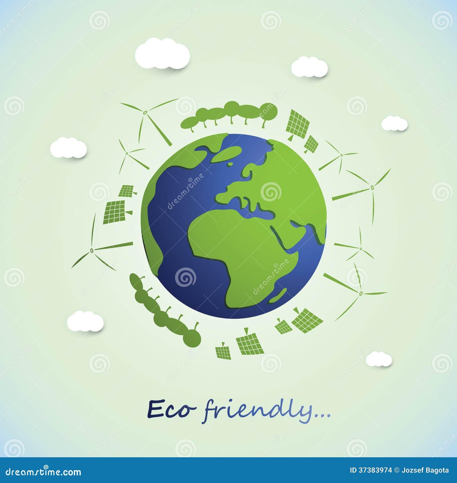 Environmental Concept Earthfriendly Landscapes: Environmentally Friendly Planet Stock