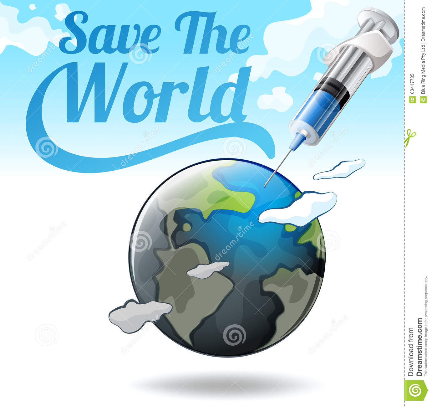 Poster design on save earth - Earth Illustration Needle Poster Save