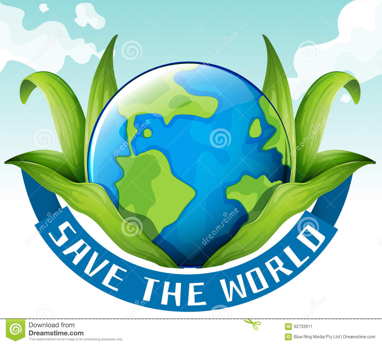 save the world theme with earth and leaves stock vector rh dreamstime com free save the earth clip art Save the Earth Poster Ideas