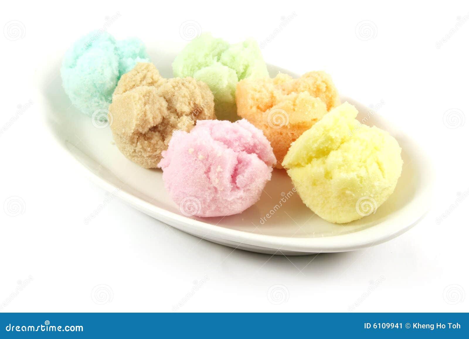 Saveurs assorties de crême glacée