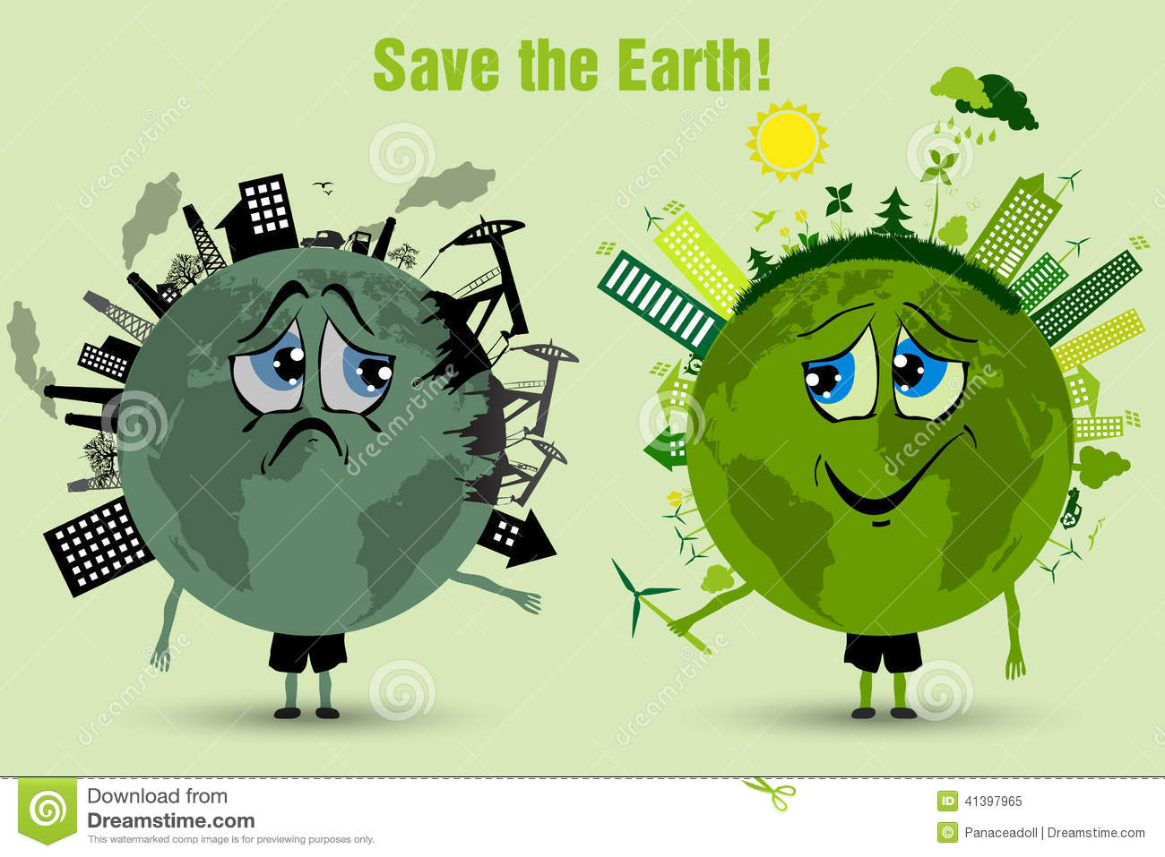 Saving The Earth Ecology Concept Stock Vector Illustration Of