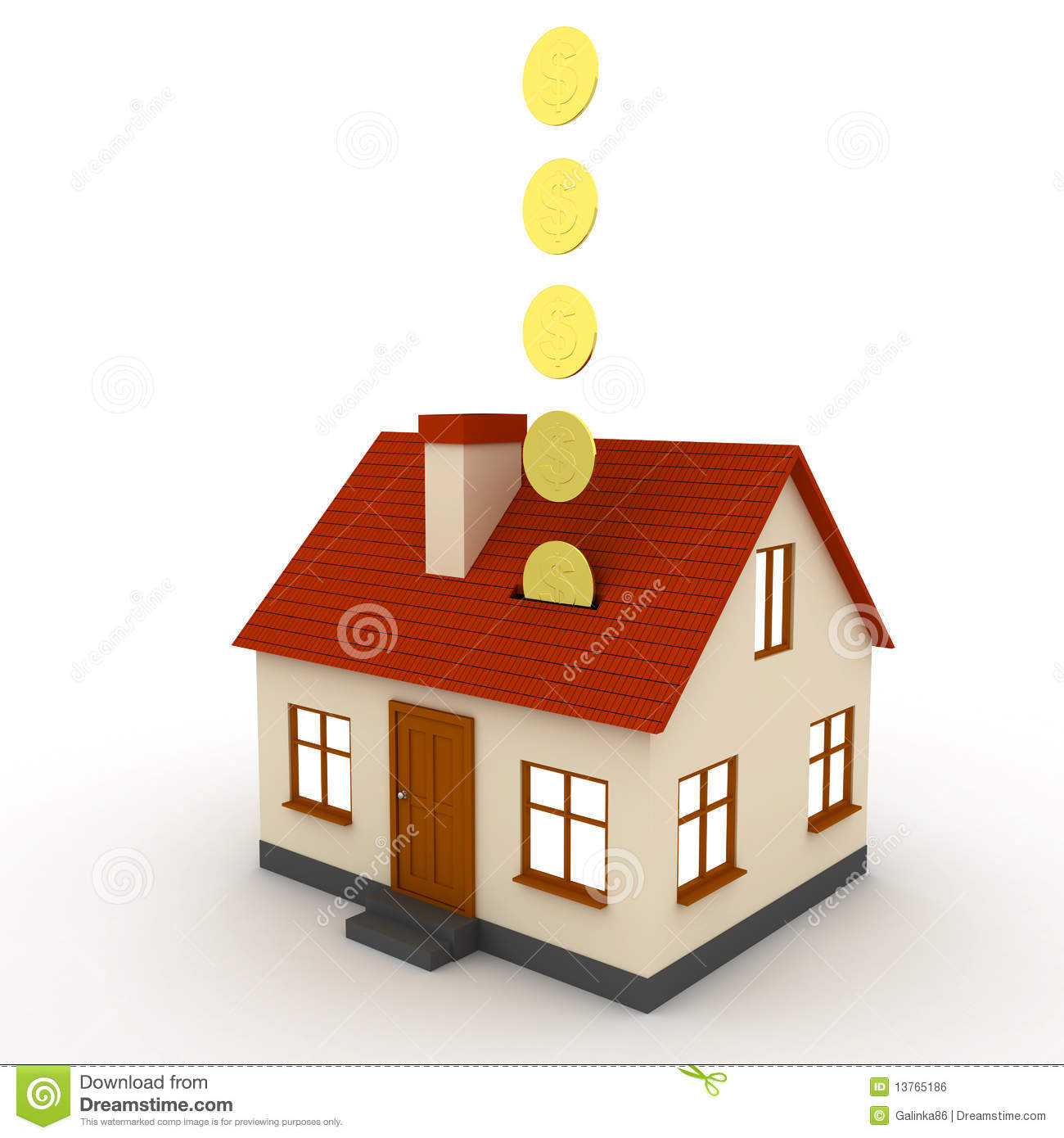 Saving For A House Stock Illustration Illustration Of