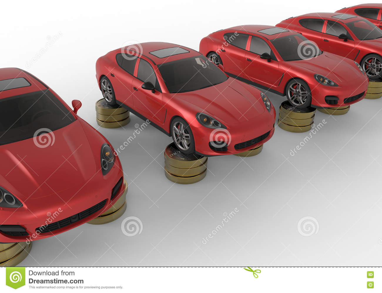 Saving Money For Cars Concept Stock Illustration - Illustration of ...