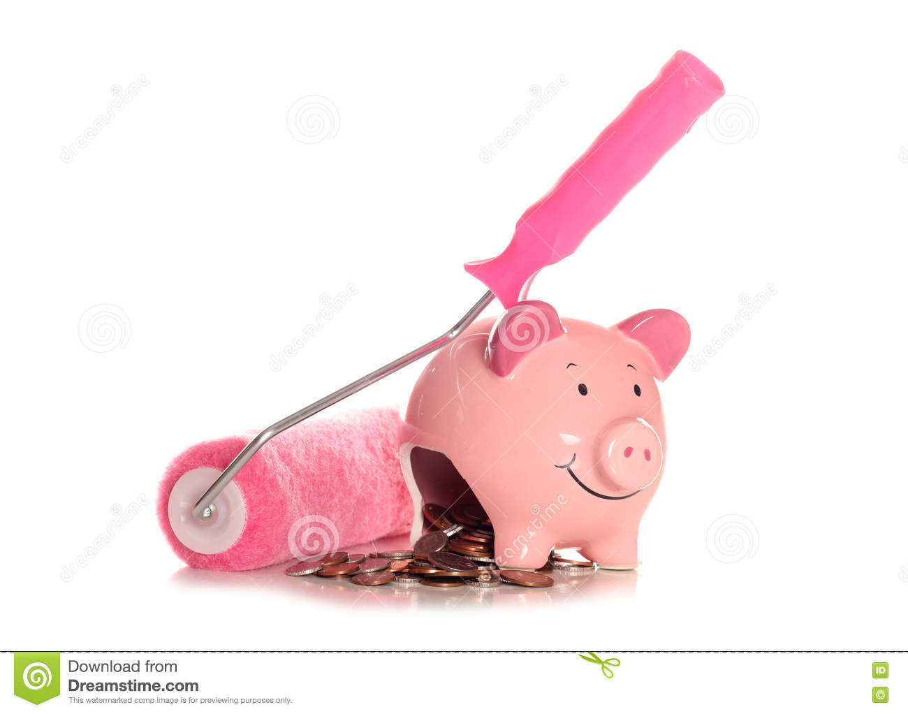 Saving Money By Diy Decorating Stock Photo Image Of Decorating