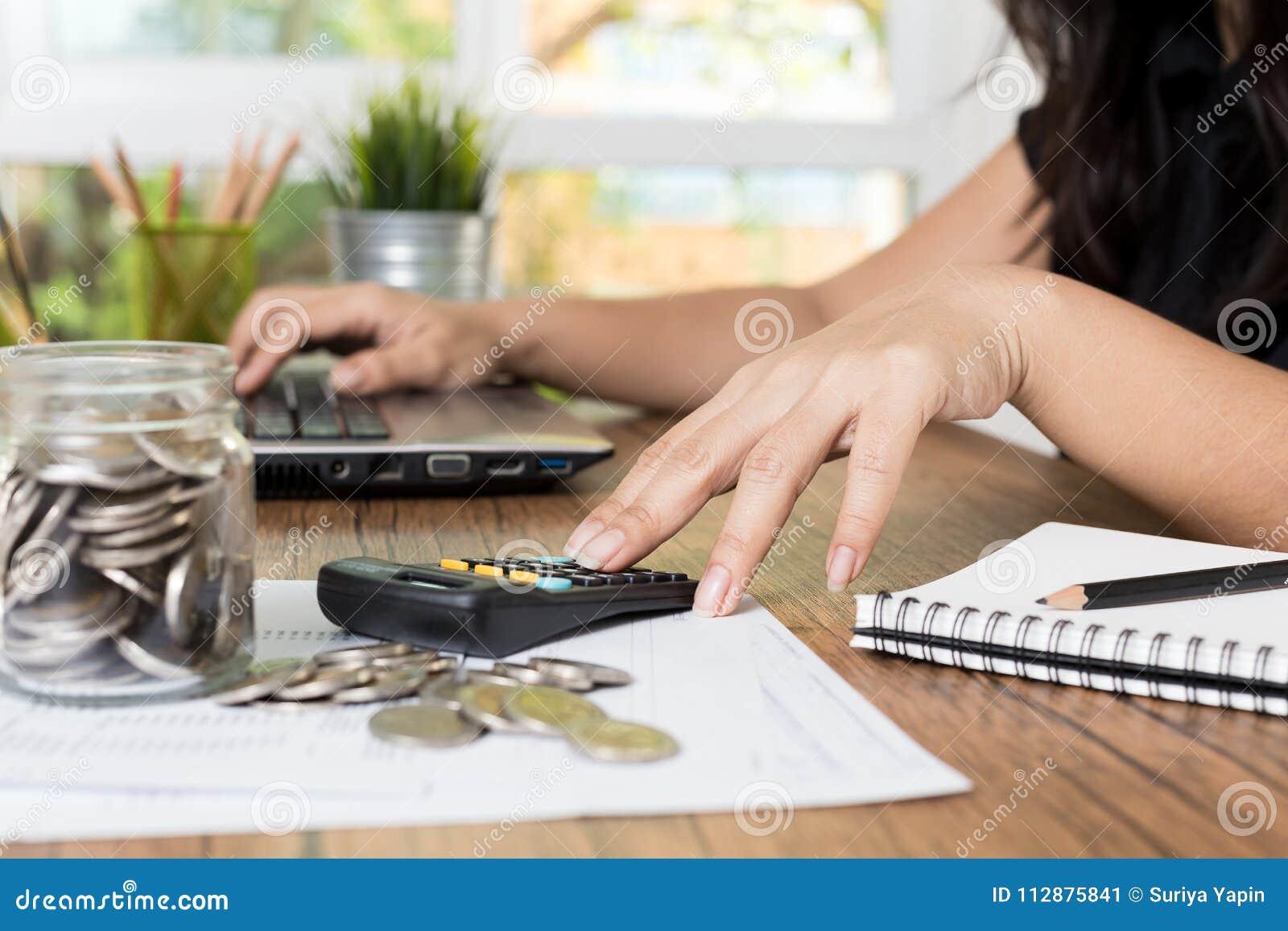 Saving money and finances concept,