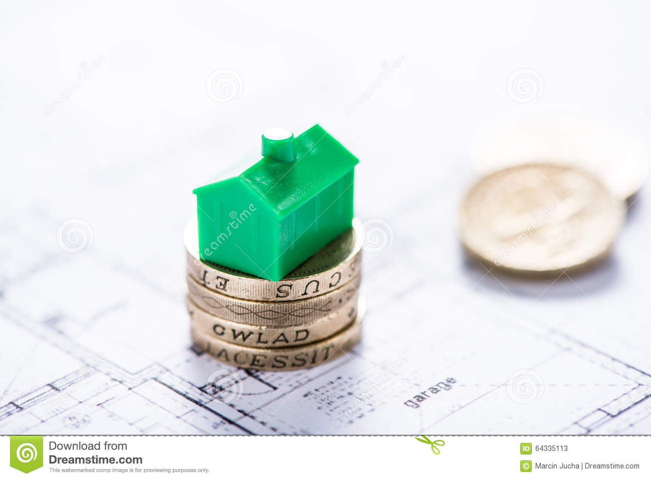 Saving Money For New Home Stock Photo Image 64335113