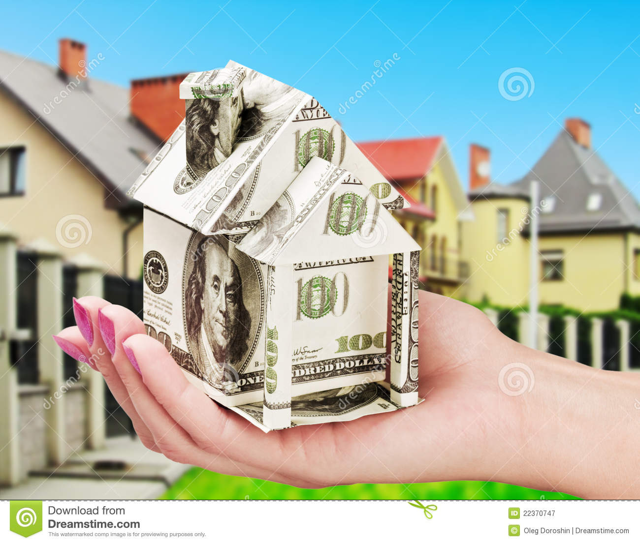 Savings Money Buying New House Royalty Free Stock Image