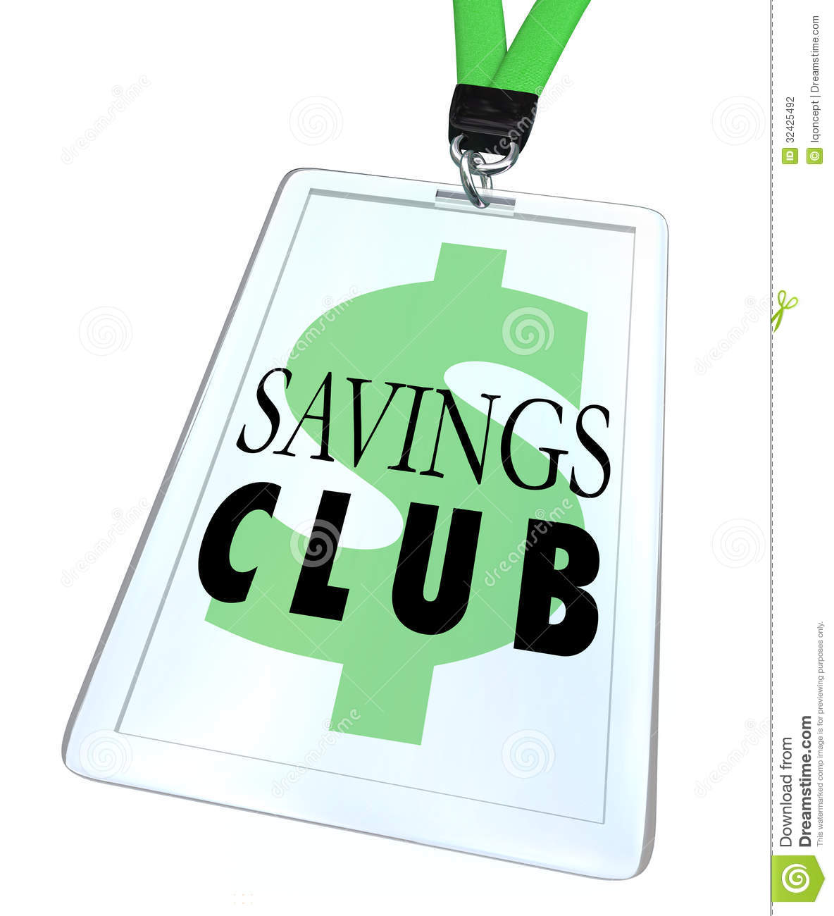 Savings Club Badge Id Card Special Discount Save More Stock Photography Image 32425492