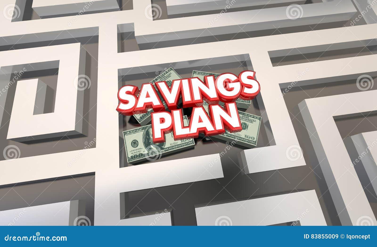 savings plan maze budget grow money wealth stock illustration