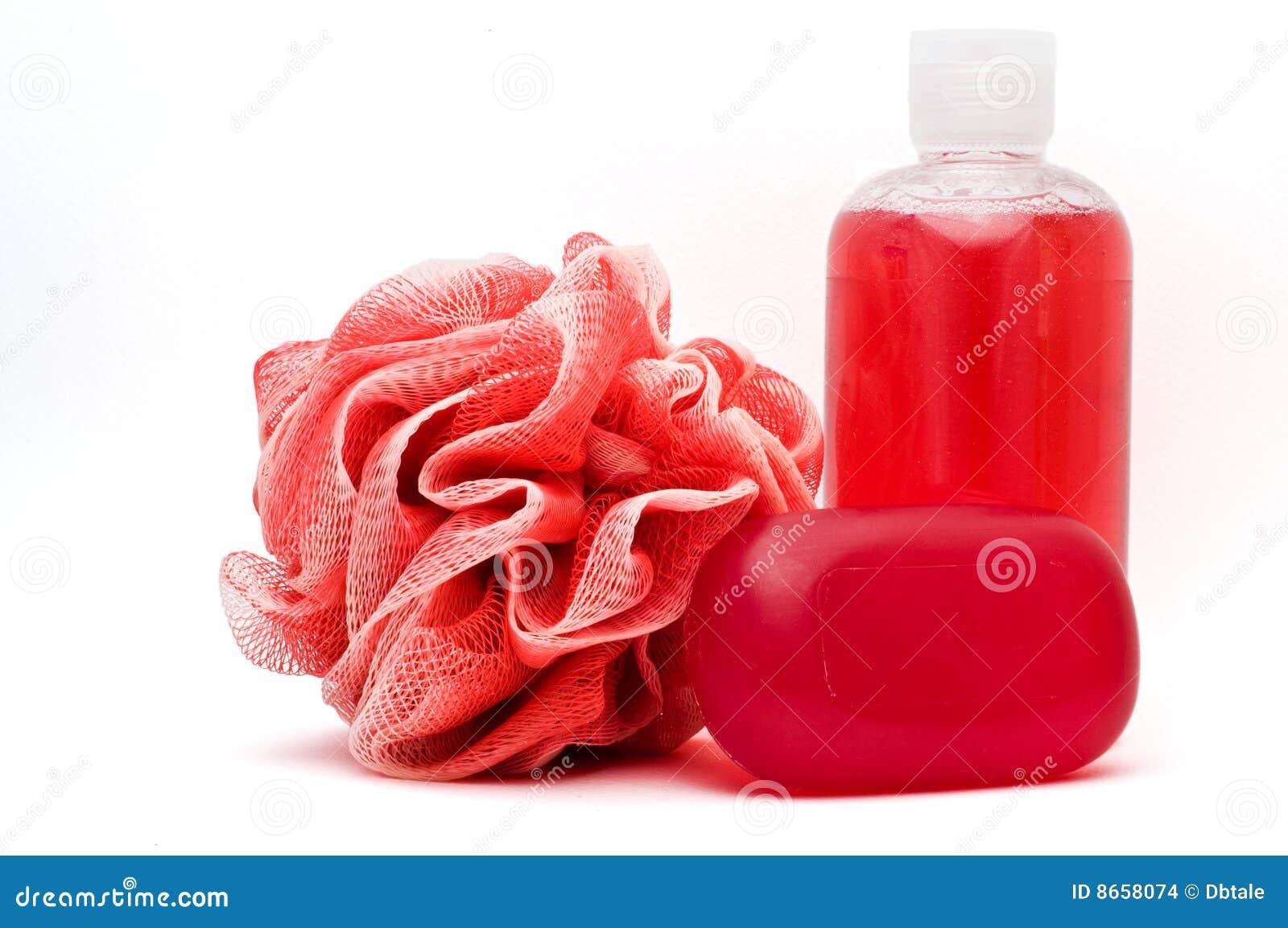 Savon de douche de rose de gel de bain de bar