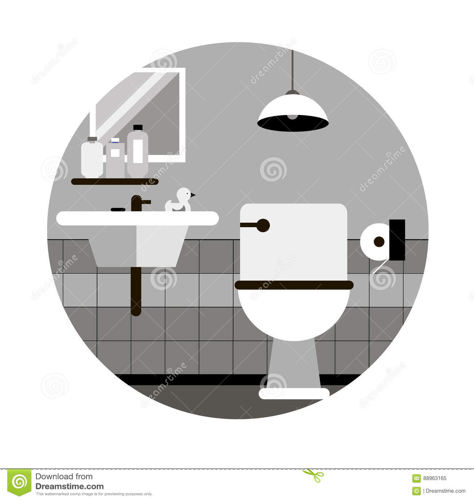 Savon De Lavabo De Salle De Bains De Toilette De Vecteur