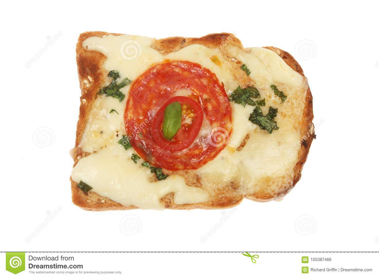 Savory toasted snack