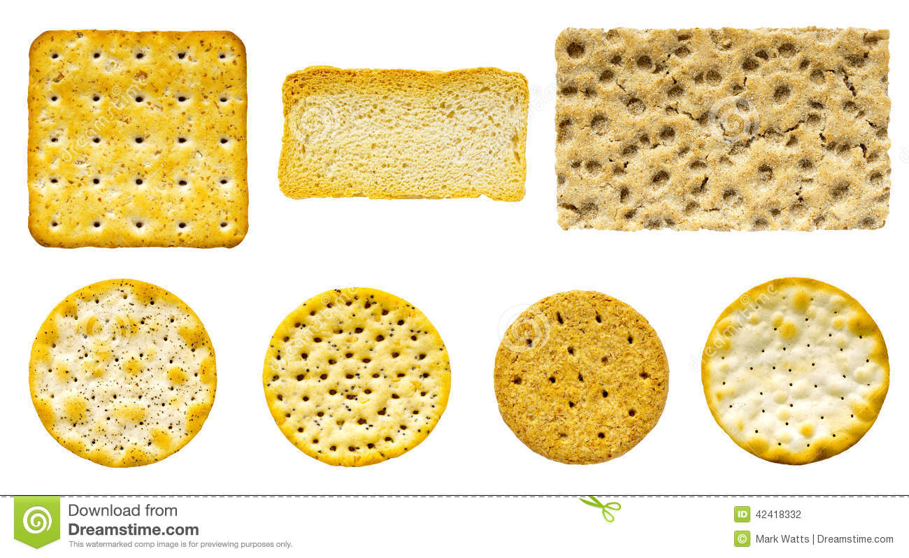 Savoury Biscuit And Cracker Selection Stock Photo - Image