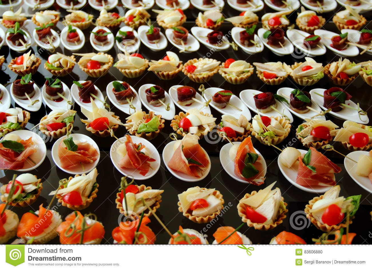 Savoury canapes set stock photo stock photo image of small appetizers 83606880 - Table de canape ...