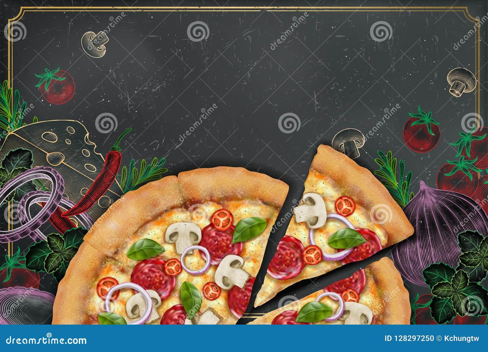 Savoury pizzaannonser