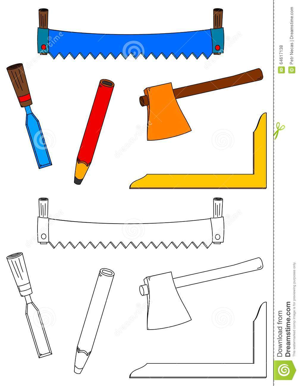 chisel and hammer coloring pages - photo#2