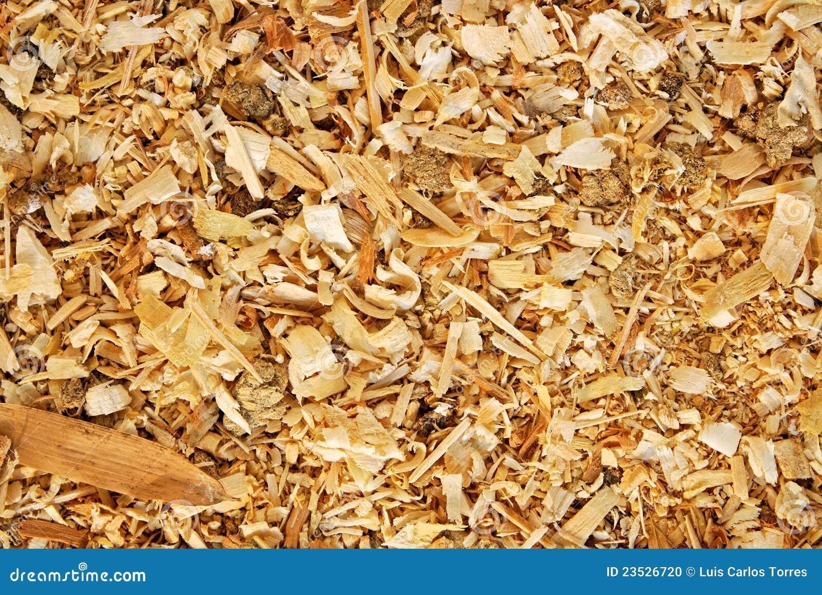 Sawdust animal bedding