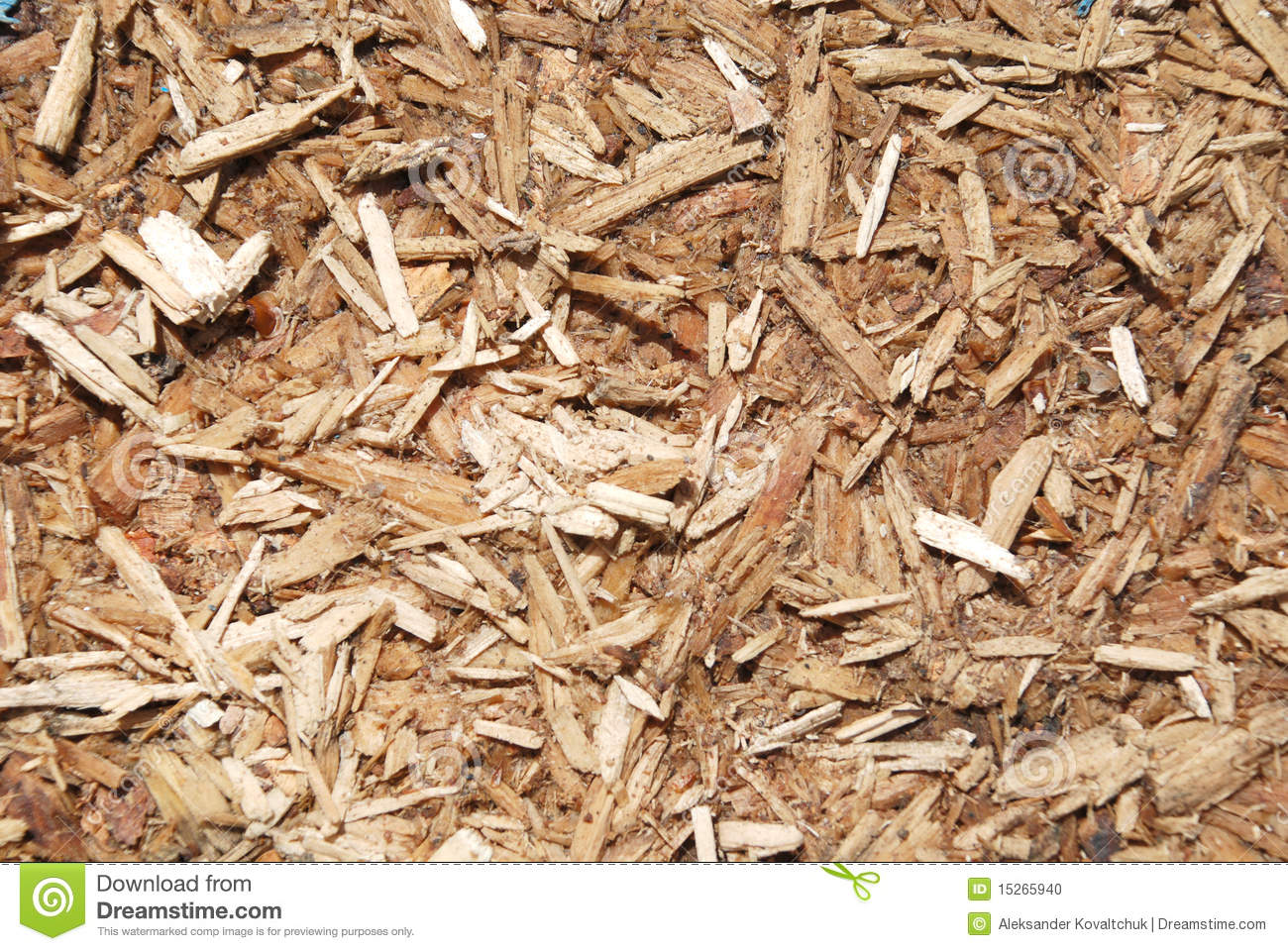 Dirty Wood Chips ~ Sawdust brown color stock photo image