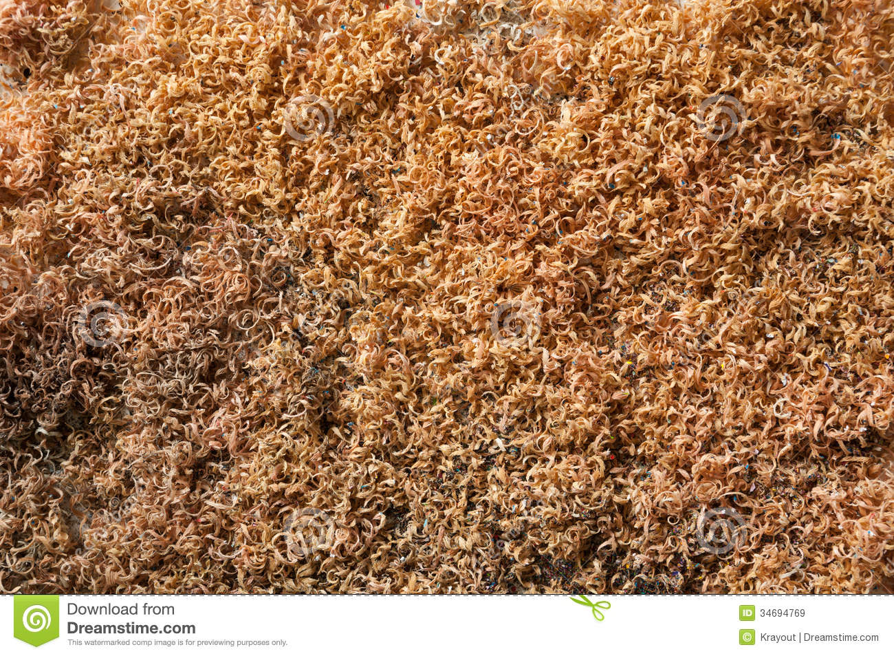 Sawdust pile stock image of construction shaving
