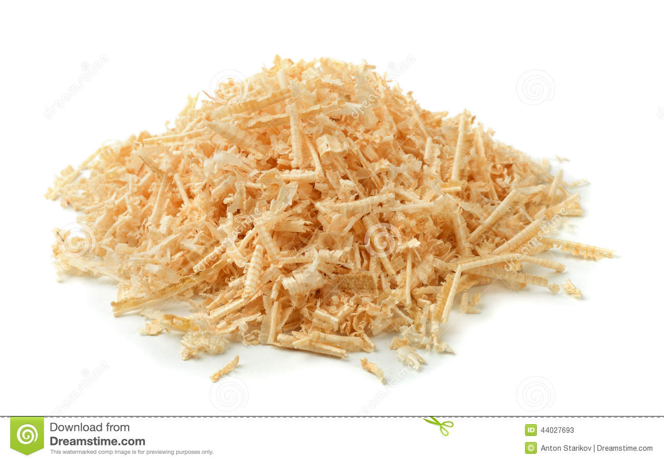 Sawdust and shavings stock image of material