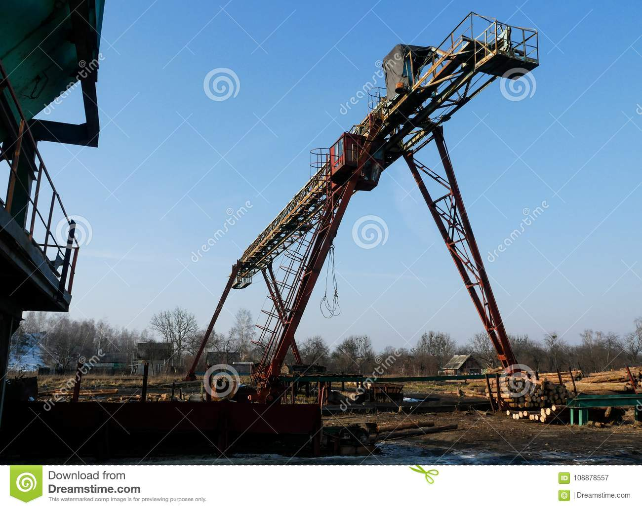Sawmill industrial machine stock image  Image of forest
