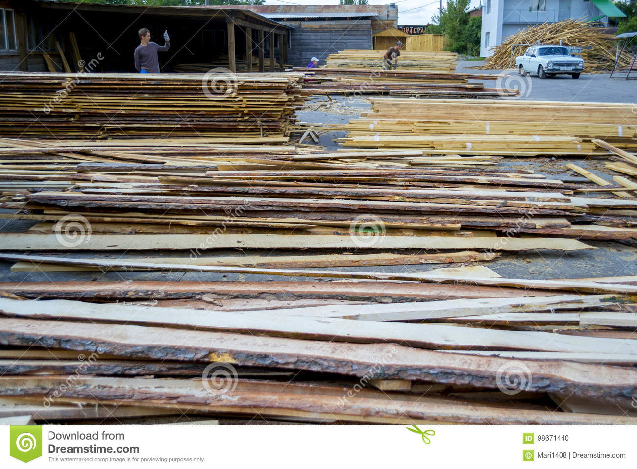 Warehouse factory wooden blanks