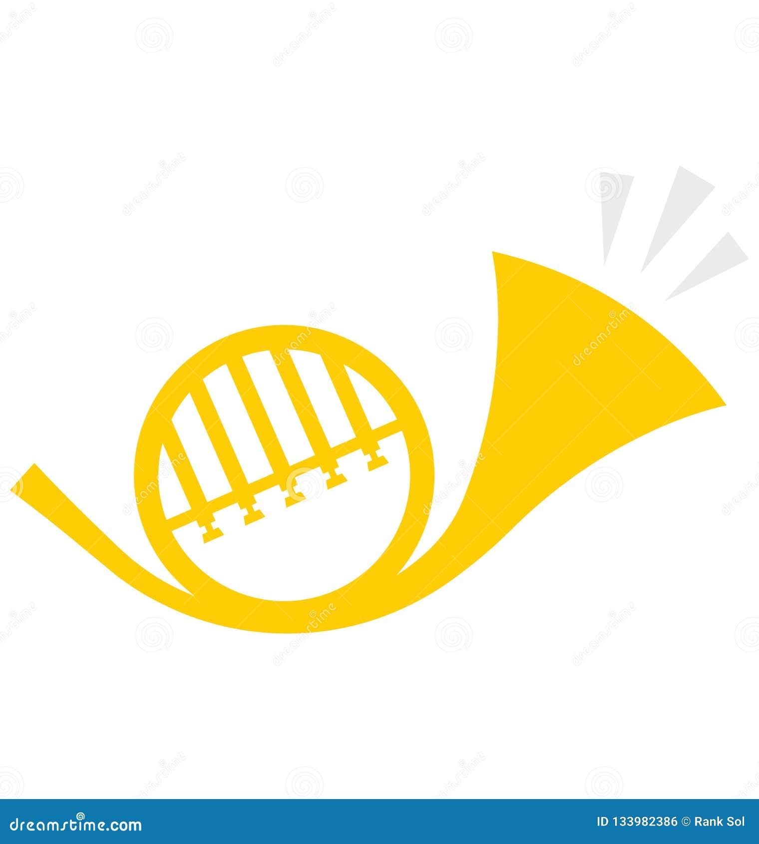 Saxofoon, trompet Vectorpictogram dat gemakkelijk kan worden gewijzigd of uitgeven