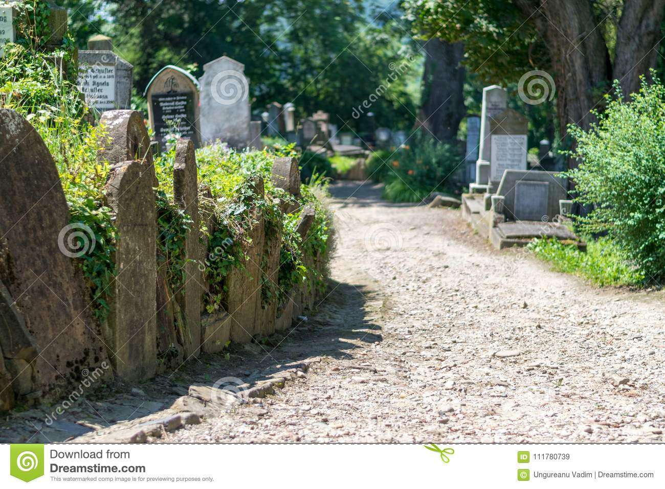 Saxon cemetery, located next to the Church on the Hill in Sighisoara, Romania