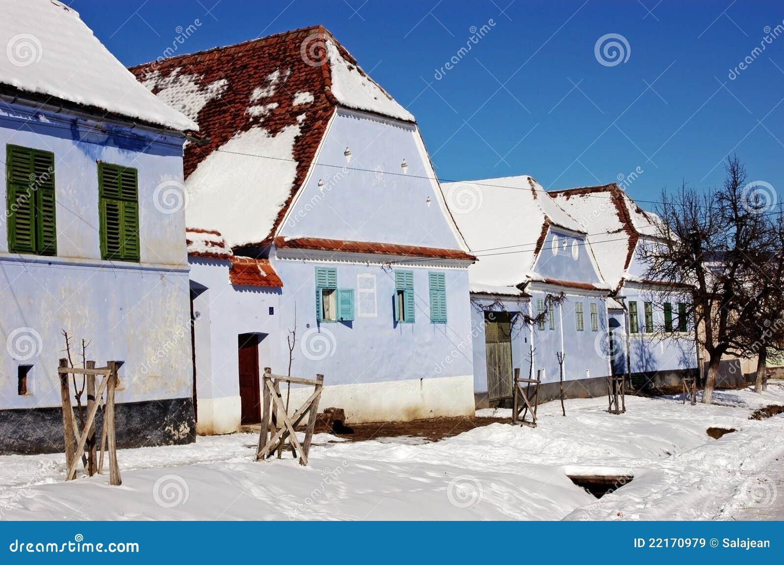 Saxon houses in viscri transylvania romania royalty free stock images image 22170979 - Saxon style houses in transylvania ...