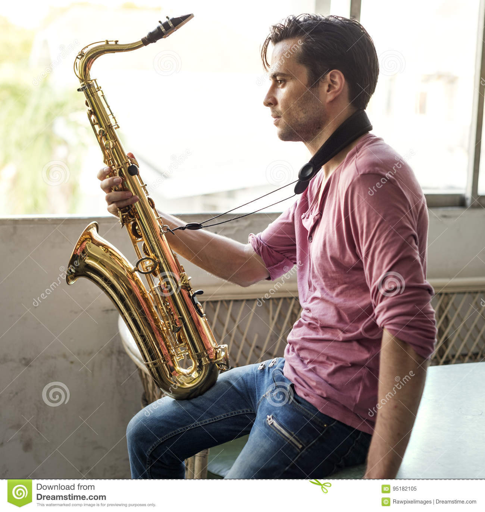 Saxophon-Symphonie-Musiker Jazz Instrument Concept