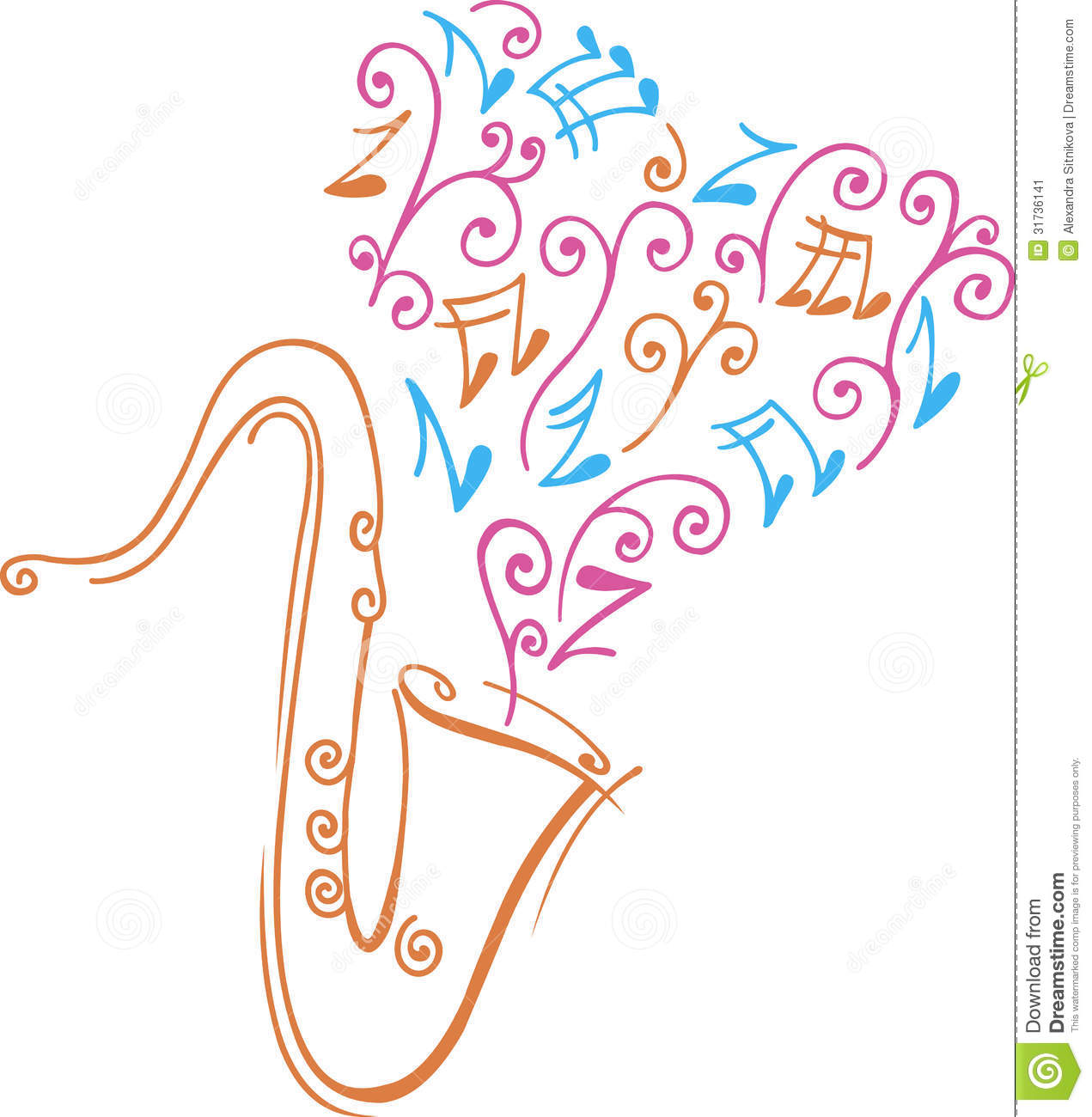 saxophone stock vector illustration of drawn music 31736141
