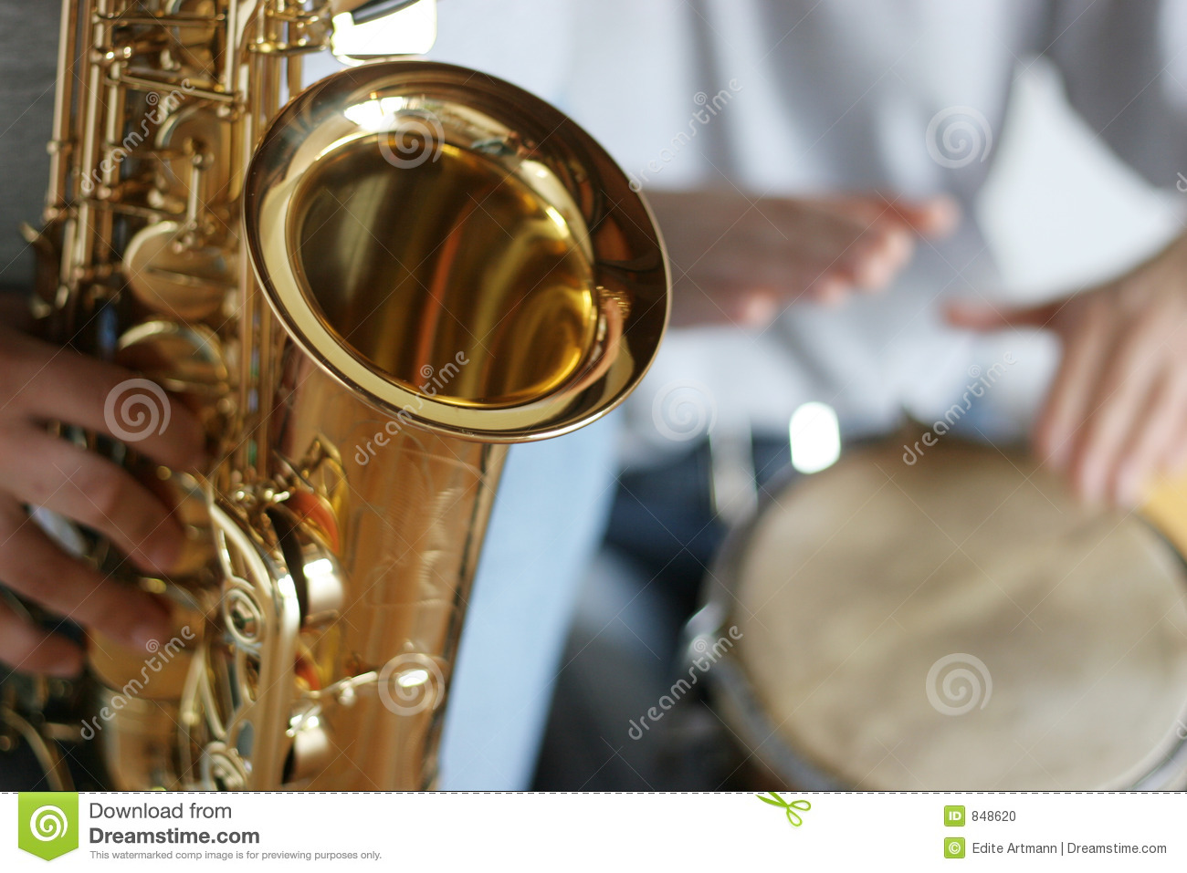 Saxophone and drums